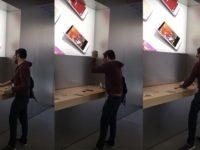 Šílený muž vtrhnul do Apple Storu a zničil věci za tisíce eur