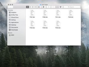 Jak hromadně přejmenovat soubory v OS X Yosemite