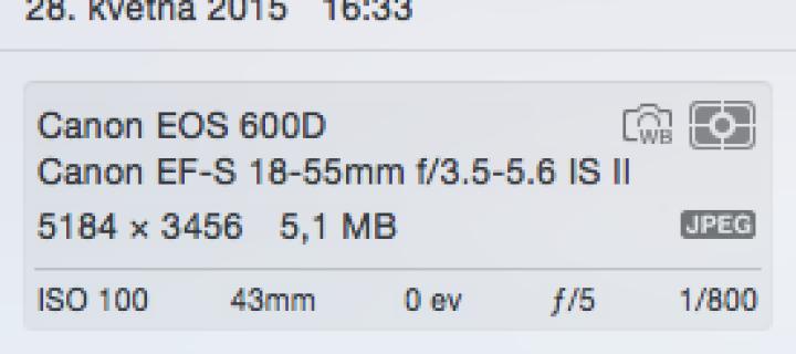 Návod: Jak zobrazit EXIF data u fotografií v aplikaci Fotky pro Mac