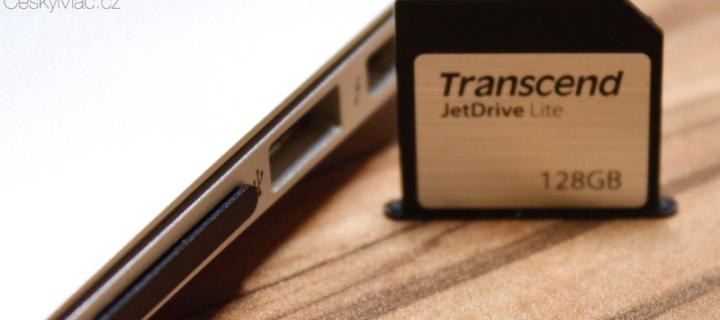 Recenze Transcend JetDrive Lite: Nejjednodušší způsob, jak rozšířit paměť Macbooku