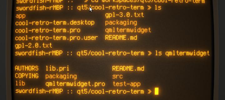 S aplikací Cool Retro Term získáte unikátní Terminál pro Mac s Vintage vzhledem