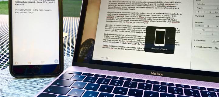 Typeeto: Využijte pohodlnou klávesnici MacBooku pro psaní na iPhonu, iPadu a Apple TV