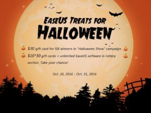 Oslavte s EaseUS Halloween a vyhrajte zdarma jeden z programů na obnovu smazaných dat