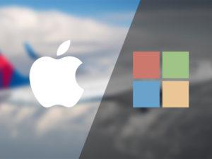 Další rána pro Microsoft. iOS se v letecké dopravě stává čím dál oblíbenějším
