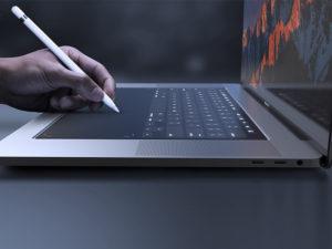 Nový patent Applu ukazuje, jak budou vypadat budoucí MacBooky. Obejdou se bez klávesnice