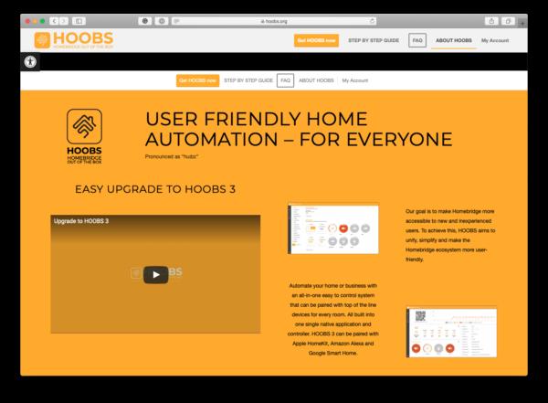 Hoobs homepage